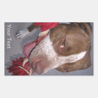 Cheeky Pitbull Rectangular Sticker