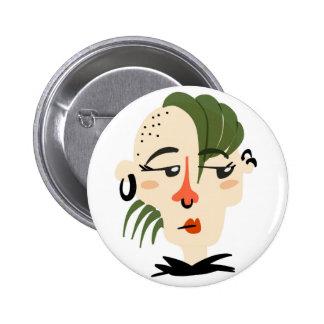 Cheeky Punk Rocker Button
