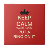 Cheeky Royal Wedding Ceramic Gift Tile