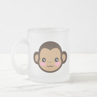 Cheeky Saru Frosted Glass Coffee Mug