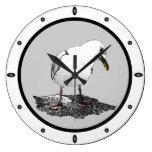 Cheeky Seagull Round Wall Clock