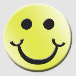 Cheeky Smile Classic Round Sticker