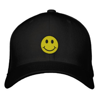 Cheeky Smiley Embroidered Hat