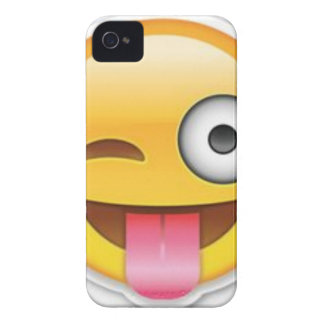 Cheeky Smiley emoji wink iPhone 4 Case