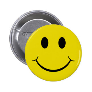 Cheeky Smiley Pinback Button