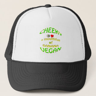 cheeky vegan  i love a mouthfull of banana. trucker hat