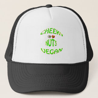 cheeky vegan i love nuts trucker hat