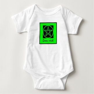 Cheeky Witch green collection Baby Bodysuit