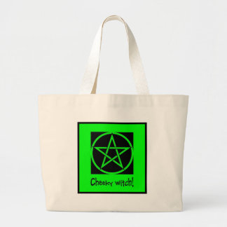 Cheeky Witch green collection Large Tote Bag