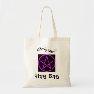 Cheeky Witch Hag Bag - Pink Pentagram