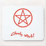 Cheeky Witch Star Collection (Red) Mouse Mat