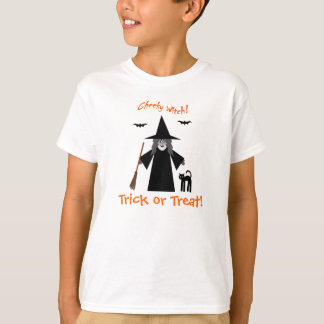 Cheeky Witch Trick or Treat Kids T Shirt