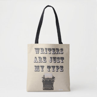 Cheeky Writers Are My Type Slogan Tote Bag