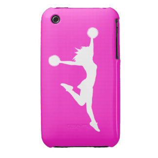 Cheer 1 iPhone 3G/3GS Case White on Pink