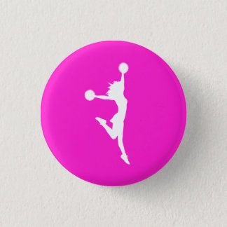 Cheer 2 Silhouette Button Pink