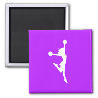 Cheer 2 Silhouette Magnet Purple