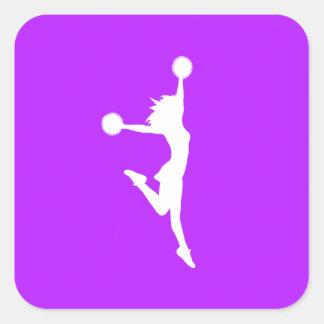 Cheer 2 Silhouette Sticker Purple