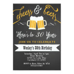 Cheer and Beers Birthday Party Invitation for Men