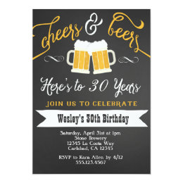30th Birthday Party Invitations Announcements Zazzle