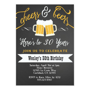 50th birthday invitations zazzle cheer and beers birthday party invitation for men filmwisefo