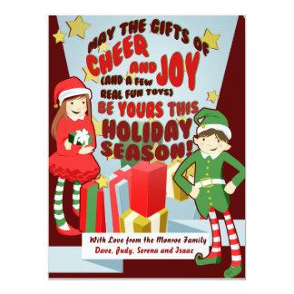 Cheer and Joy Holiday Cards Custom Invite