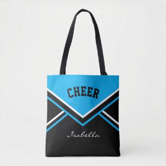 Cheer Baby Blue Cheerleader Outfit Tote Bag