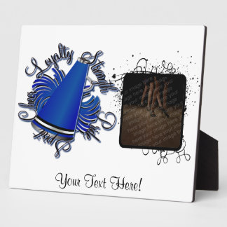 Cheer Black and Blue Qualities Customizable Plaque