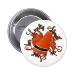 Cheer Black and Orange Qualities Pinback Buttons