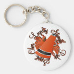 Cheer Black and OrangeQualities Keychains