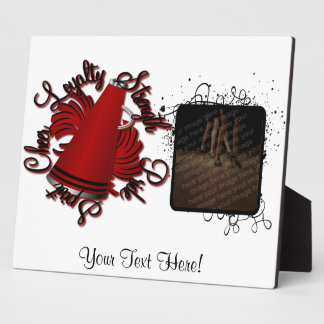 Cheer Black and Red Qualities Plaque