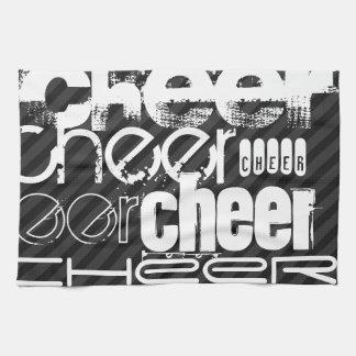 Cheer; Black & Dark Gray Stripes Towel