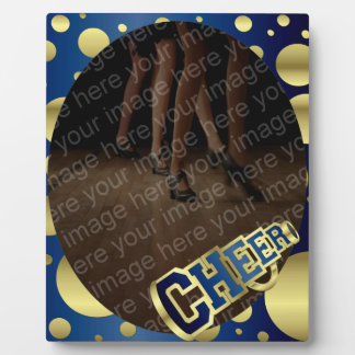 Cheer Blue and Gold Photo Plaque