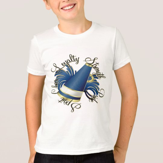 Cheer Blue and Gold Qualities T-Shirt