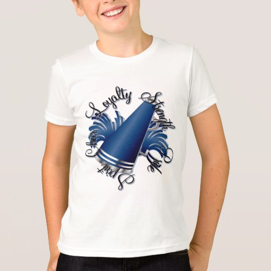 Cheer Blue and Silver Qualities T-Shirt