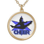 Cheer blue necklace
