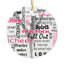 Cheer Ceramic Ornament