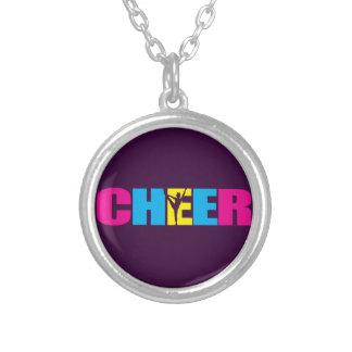 CHEER Cheerleading Round Pendant Necklace