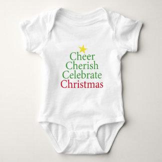 Cheer, Cherish, Celebrate Christmas! Baby Bodysuit