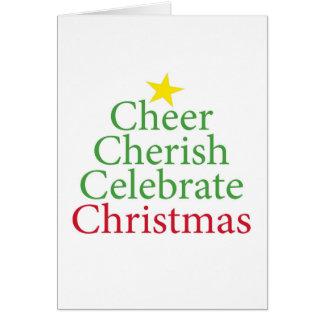 Cheer, Cherish, Celebrate Christmas! Card
