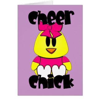 Cheer Chick Cheerleader Card