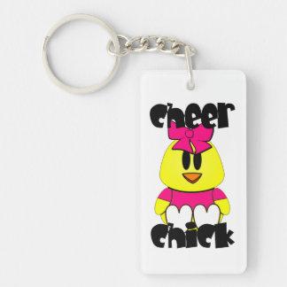 Cheer Chick Cheerleader Single-Sided Rectangular Acrylic Keychain
