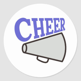 Cheer Classic Round Sticker