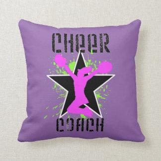 Cheer coach purple throw pillow