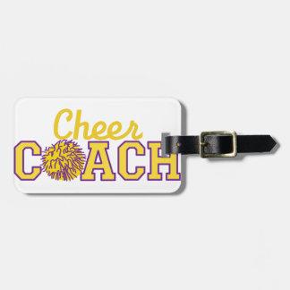 Cheer Coach Travel Bag Tag