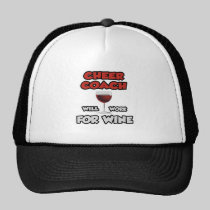 Cheer Coach ... Will Work For Wine Mesh Hat