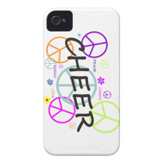 Cheer Colored Peace Signs iPhone 4 Case-Mate Cases