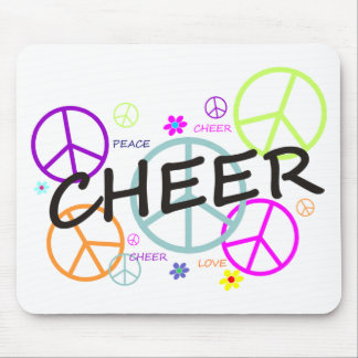 Cheer Colored Peace Signs Mouse Pad