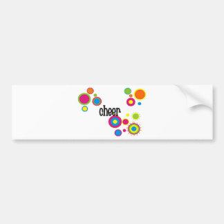 Cheer Cool Polka Dots Car Bumper Sticker