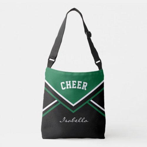 Cheer Dark Green Cheerleader Outfit Crossbody Bag