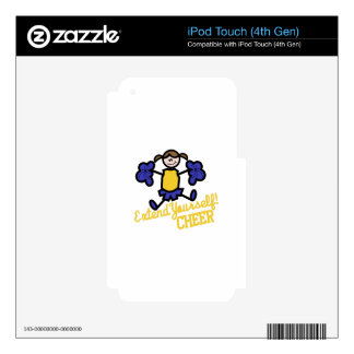 Cheer Decal For iPod Touch 4G